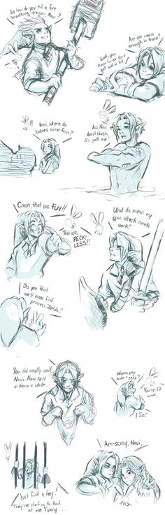 Link and Navi - Doodles by bossbetch on DeviantArt