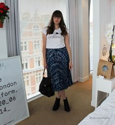 Danielle from Fashionista Barbie wearing Quiz Clothing Boots to LFW http://fashionistabarbieuk.com/2014/09/lfw-ss15-day-3-temperley-london/