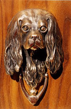 Cavalier King Charles, Cavalier King Spaniel, King Charles Dog, King Charles Spaniel, Door Knobs And Knockers, Door Accessories, Porches, Ramen, Bronze