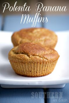 The Best Banana Muffins ever. These Healthy, Gluten Free Muffins are super moist thanks to the addition of polenta. A recipe suitable for clean eating. Gluten free, low fat