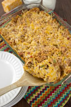 Cheesy Mexican Beef and Rice Casserole. Bring the family together around the dinner table to enjoy this warm and comforting Cheesy Mexican Beef and Rice Casserole! It's sure to become a meal they request over and over again! #casserole #comfortfood #casseroles #mexicanfood #mexicanrecipes