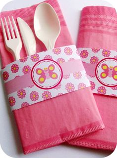 Birds Party Blog: TUTORIAL: How to make a cute paper napkin pouch