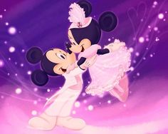 Purple Mickey and Minnie Mouse Glitter Graphics | mickey and minnie - mickey-mouse Fan Art