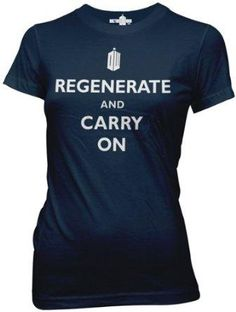 I found 'Doctor Who Regenerate and Carry On Womens Juniors T-shirt' on Wish, check it out!