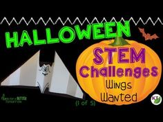 Halloween STEM Challenges are a great way to keep students engaged, thinking critically, and working on hands-on problem solving at a time they usually struggle to concentrate! This is challenge 1 of 5: Wings Wanted. (Halloween Art Primary)