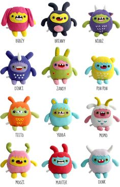 monchi monsters.   Cheek and Stitch.