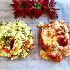 JeanneDôme: Chez Jeanne - Σνίτσελ κοτόπουλο à l' italienne και αρωματικό ρύζι λαχανικών Jeanne, Baked Potato, Potatoes, Eggs, Sweets, Baking, Breakfast, Ethnic Recipes, Food