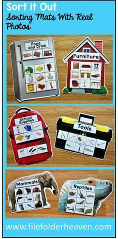 These Sorting Activities: Sorting Mats With Real Photos include 15 unique…