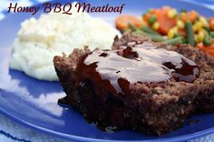 Honey Barbecue Meatloaf  {Oh So Good}