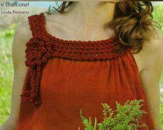 Tecendo Artes em Crochet: Blusa Customizada com Crochê, Linda!