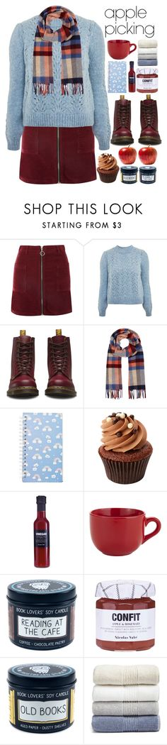 """""""Harvest Time: Apple Picking"""" by alaria ❤ liked on Polyvore featuring Topshop, Dr. Martens, Johnstons of Elgin, Forever 21, Nicolas Vahé, Pier 1 Imports, Nordstrom and applepicking"""