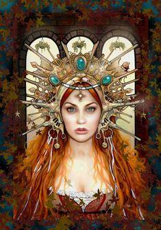 Achall ~ Irish Goddess of medicine who herself died of grief. The personification of bereavement. Celtic Goddess, Goddess Art, Religion Wicca, Art Magique, Irish Mythology, Sacred Feminine, Divine Feminine, Art Graphique, Gods And Goddesses