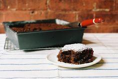 Chocolate snack cake (no eggs, no dairy)