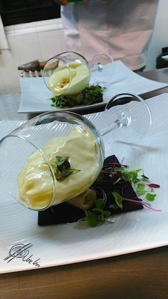 Have you ever thought of food as a way of making a - Présentation des Plats Gourmet Recipes, Cooking Recipes, Sushi Recipes, Gourmet Desserts, Gourmet Foods, Plated Desserts, Food Plating Techniques, Food Decoration, Molecular Gastronomy