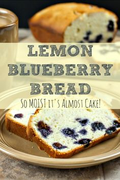 When life hands you lemons. pick up some blueberries and whip up this moist, easy-to-make Lemon Blueberry Bread recipe! It freezes well, too. Blueberry Bread Recipe, Blueberry Recipes, Microwave Cake, Creative Desserts, Biscuit Recipe, Frozen Desserts, Sweet Bread, Bread Recipes, Bakery