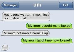 Page 2 - Autocorrect Fails and Funny Text Messages - SmartphOWNED lol Funny Texts Jokes, Text Jokes, Funny Text Fails, Cute Texts, Funny Text Messages, Stupid Funny Memes, Funny Relatable Memes, Haha Funny, Funny Stuff