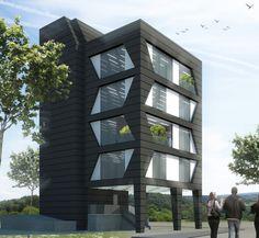 Istanbul, Architecture Résidentielle, Cultural Architecture, Bungalow Haus Design, Building Elevation, Small Buildings, Facade Design, Building Design, House Plans