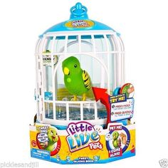 Popular toy for Christmas 2014. Little Live Pets Bird Cage - Friendly Frankie NIP HOT TOY! Hard to find #MooseToys