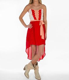 I might have to make a quick trip to Buckle today...Flying Tomato High Low Hem Dress!!  would look great with my cowboy boots AND my 5in wedges!