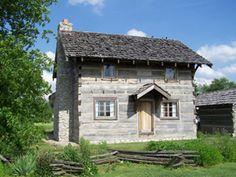 example of 1845 eastern Indiana house (Carmel)