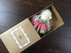 Angel in a matchbox fabric angel decorations cloth by GabYhandmade