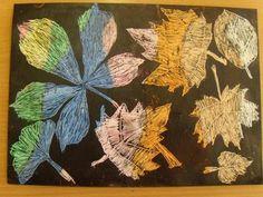 Odkrývací technika - podzimní listy School Art Projects, Autumn, Plants, Painting, Image, Painted Fan, Fall, Painting Art, Flora