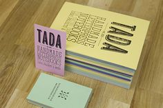 TADA Identity by Apple&Pear , via Behance
