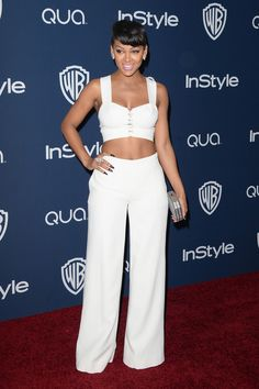 Actress Meagan Good attends the 2014 InStyle and Warner Bros. 71st Annual Golden Globe Awards Post-Party on January 12, 2014 in Beverly Hill...