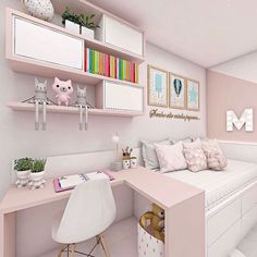 New decoration! Small comfortable and modern small room 💞 ——- New decoration ! Small comfortable and modern simple room 💞 interior . - My Website 2020 Cute Bedroom Ideas, Cute Room Decor, Room Ideas Bedroom, Small Room Bedroom, Bedroom Decor, Small Teen Room, Double Bedroom, Room Design Bedroom, Girl Bedroom Designs