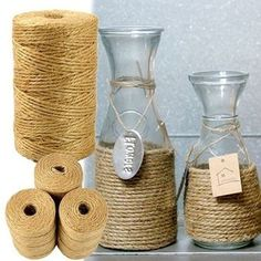 Cheap supplies party, Buy Quality supplies craft directly from China supplies wedding Suppliers: DIY Jute Twine Natural Sisal Rustic Tags Wrap Wedding Decoration Crafts Twisted Rope String Cord Events Party Supplies Rope Crafts, Decor Crafts, Crafts To Make, Diy Crafts, Wedding Tags, Craft Wedding, Wedding Decorations, Rustic Wedding, Pot Mason