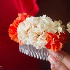 Flowered hair piece