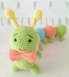 Amigurumi Knitting Toy Models - Amigurumi Large Dimension Caterpillar Model Re . Amigurumi Knitting Toy Models - Amigurumi Large Dimension Caterpillar Model Recipe (told) - knitting, knitting models, k. Crochet Baby Toys, Crochet Animals, Diy Crochet, Crochet Crafts, Crochet Dolls, Knitting Blogs, Knitting Projects, Baby Knitting, Crochet Projects
