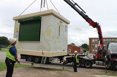 A PKL Food Cube being installed at Tudor Grange Academy Food Service, Cubes, Catering, Improve Yourself, Tudor, School, Gastronomia, Schools
