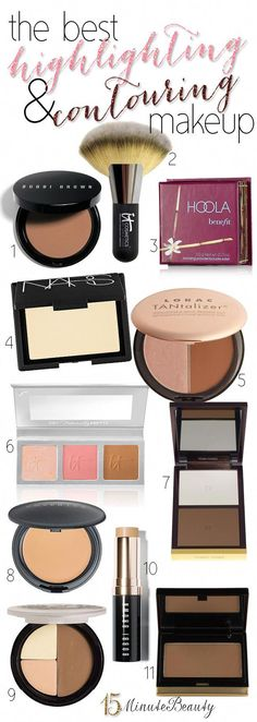 Favorite Contouring and Highlighting Products of #Makeup Artists Highlighter Makeup, Skin Makeup, Bronzer, Highlighters, Makeup Brush, Luminizer, All Things Beauty, Beauty Make Up, Love Makeup