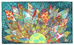 """Layered Gelli™ Printed Petals"" ICAD : 7-1-13"