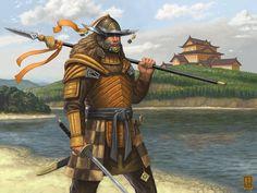 Warhammer Fantasy, Fantasy Rpg, Hunter Games, Kali Ma, Ruined City, Armadura Medieval, L5r, Samurai Art, Japan Art