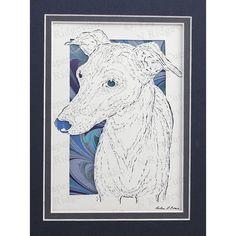 Handcut original papercutting Italian Greyhound by ePaperCuts, $55.00