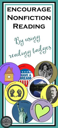 Motivate readers to build background knowledge and try new texts.  Students can earn book badges for a variety of texts -- working toward their 40 book challege.