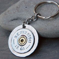 Shot Gun Shell Bullet Keychain by WireNWhimsy on Etsy,