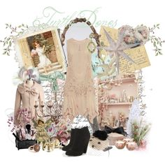 A vintage winter..., created by forget-me-not.polyvore.com