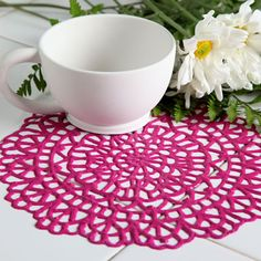 Delicate Dimensions Doily Made using Tulip Dimensional Fabric Paint