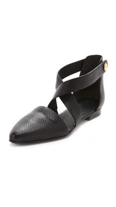 Alexander Wang Tabea Crisscross Flats, shoes