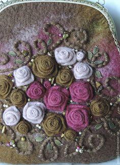 Женские сумки ручной работы. Заказать сумочка с розами. Теплый мир Гончаровой Галины. Ярмарка Мастеров. Сумка женская, разноцветный