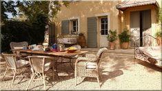 Luxury holiday home rental in Provence Loft Furniture, Garden Furniture, Wooden Floor Tiles, Patio Images, Vacation Home Rentals, House Rentals, Pergola, Garden Poles, Garden Stakes