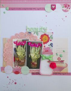 #papercraft #scrapbook #layout  Beauty (Spring Tulips) by PepPea @2peasinabucket