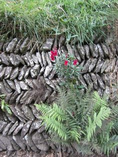 Herringbone wall - typical architectural design in Cornwall