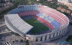 Camp Nou en Barcelona, Cataluña