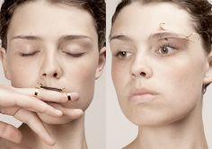 Strange jewellery designed by Imme van der Haak.