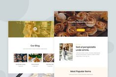 Bakery - Email Newsletter by Ra-Themes on Envato Elements Email Newsletter Design, Email Newsletters, Email Templates, Newsletter Templates, Ra Themes, Lettering Design, Bakery, Design Design, Blog