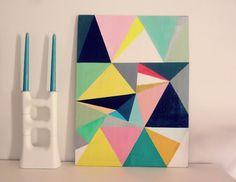 A faire soi-même ▼Tableau triangles▲ - Valy's blog